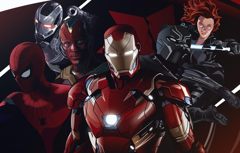 Wallpaper Fiction Art Vision Iron Man Comic Costumes