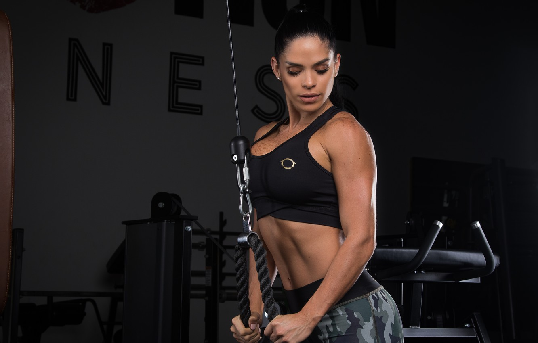 Wallpaper Brunette Workout Fitness Michelle Lewin Images