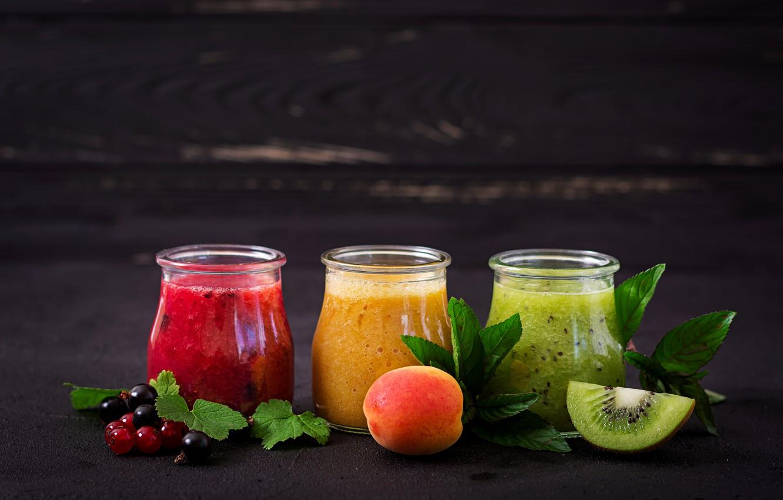 Photo wallpaper berries, Breakfast, fruit, smoothies