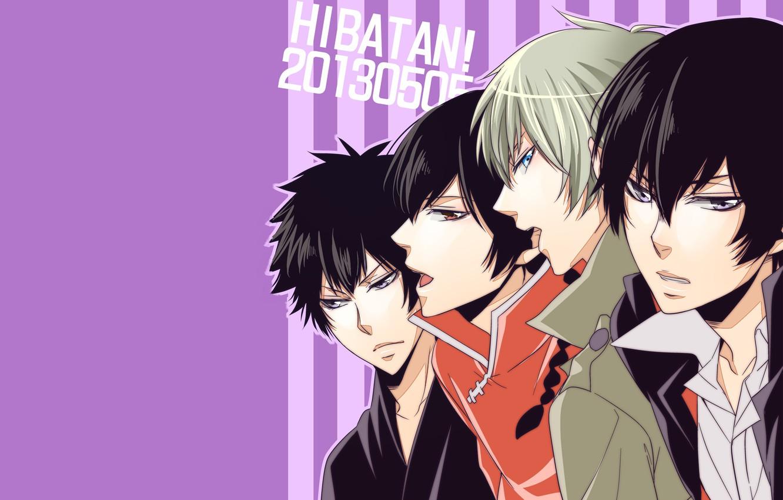 Photo wallpaper strip, background, guys, Katekyo Hitman reborn, Teacher mafia Reborn