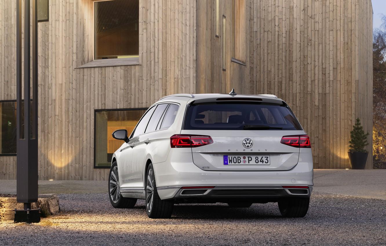 Photo wallpaper Volkswagen, universal, GTE, feed, Passat, Variant, 2019