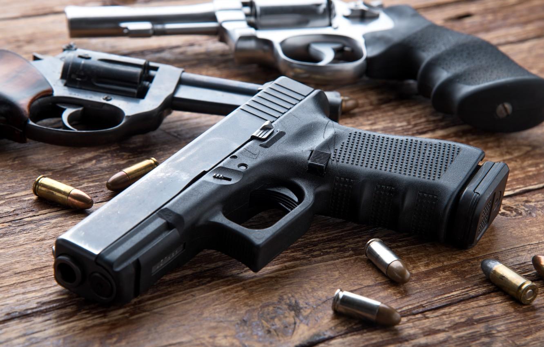 Photo wallpaper pistols, ammunition, firearms, revolvers