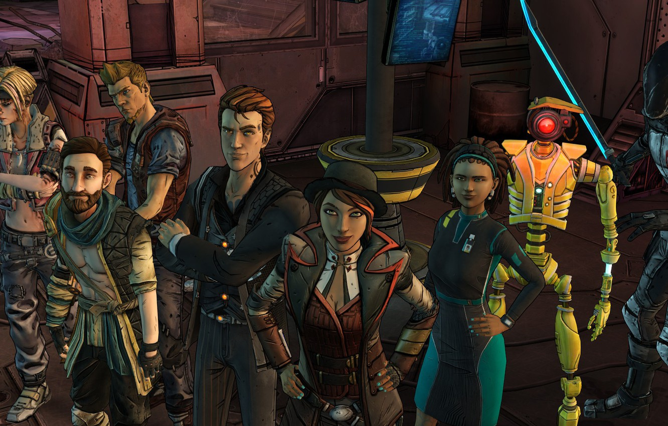 Photo wallpaper Telltale Games, Fiona, Rhys, Tales From The Borderlands