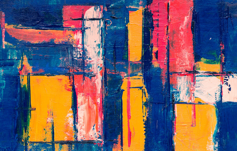 Photo wallpaper line, strip, paint, canvas, brush strokes