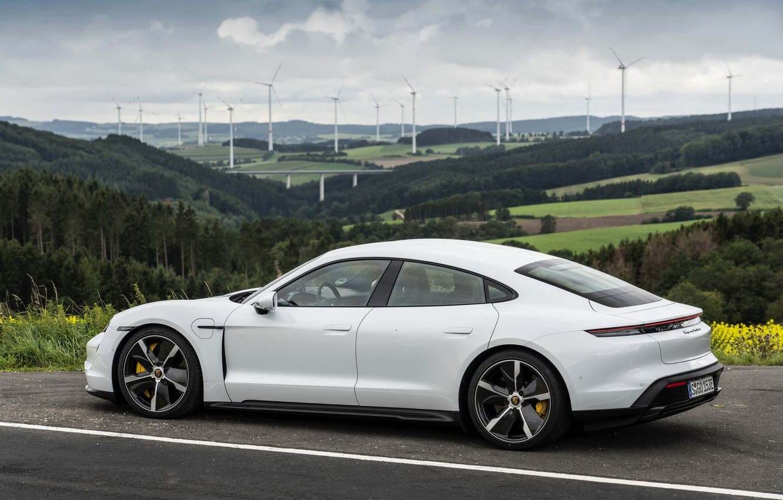 Photo wallpaper coupe, Porsche, Turbo S, 2020, the four-door, Taycan