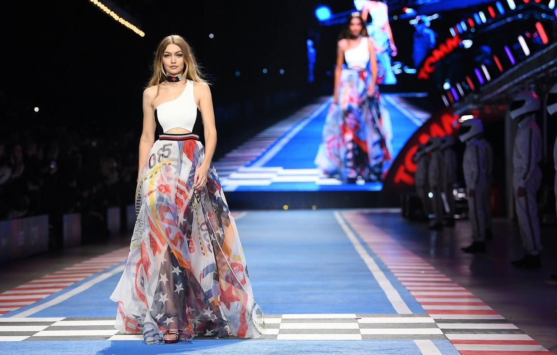 Photo wallpaper model, dress, the show, Gigi Hadid