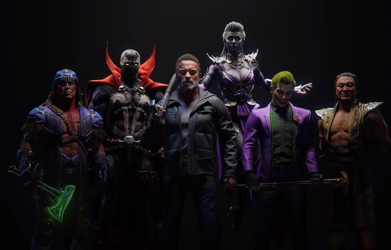Photo wallpaper The game, Fighter, Mortal Kombat, Joker, Terminator, Shang Tsung, T-800, Sindel, Spawn, Nightwolf, Mortal Kombat …