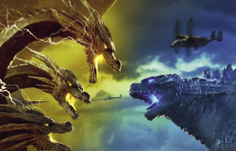 Wallpaper Battle Godzilla King Gidora Godzilla King Of The