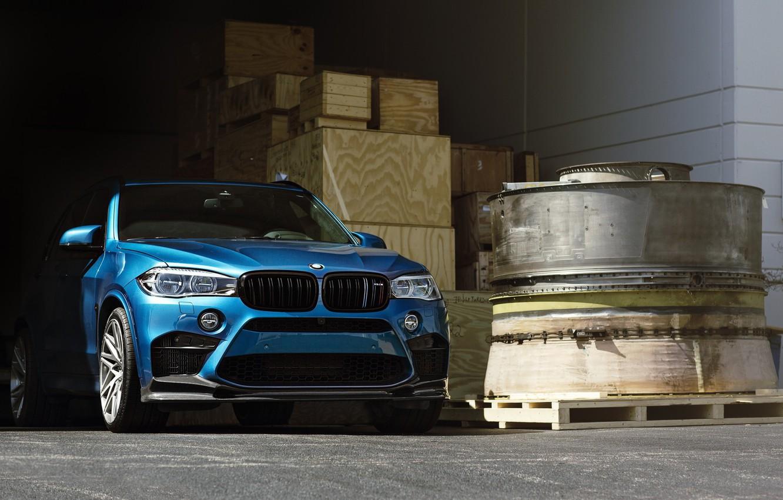 Photo wallpaper BMW, Blue, Predator, X5M, Sight, F15