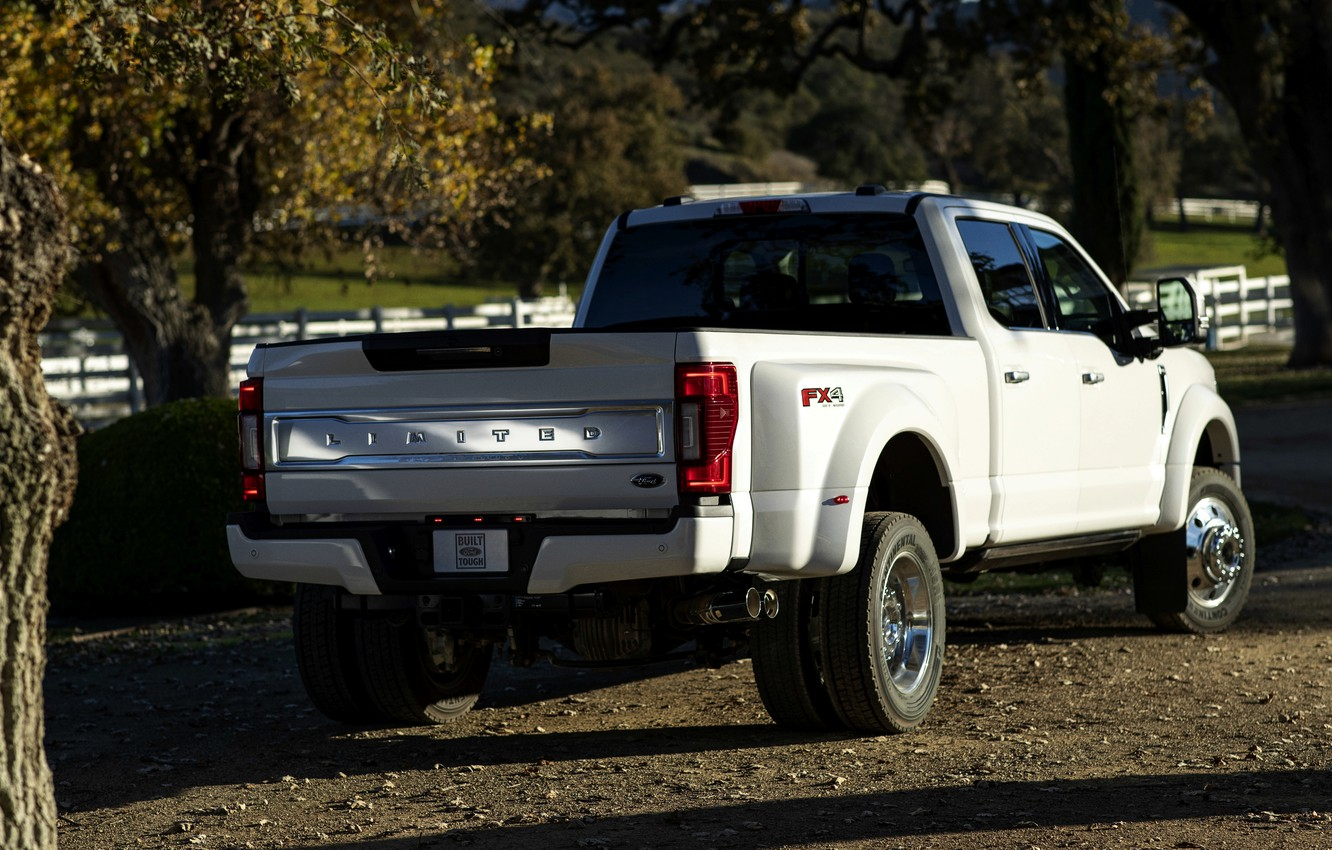 Photo wallpaper Ford, back, side, pickup, Super Duty, F-450, Limited, 2019, F-series