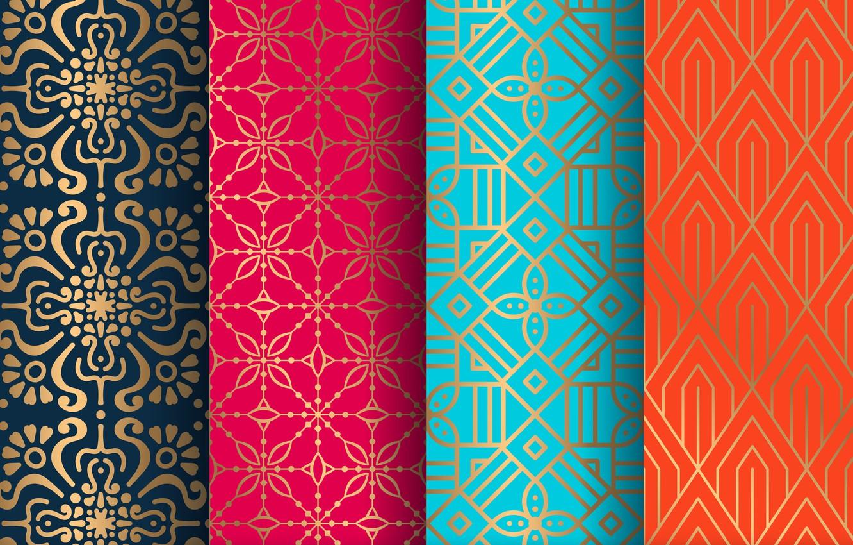 Photo wallpaper orange, blue, background, gold, blue, pattern, texture