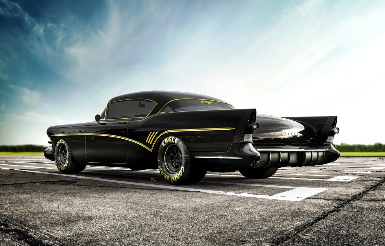 Photo wallpaper Auto, Retro, Machine, Car, Rendering, Buick, Roadmaster, Buick Roadmaster, Transport & Vehicles, Benoit Fraylon, by …