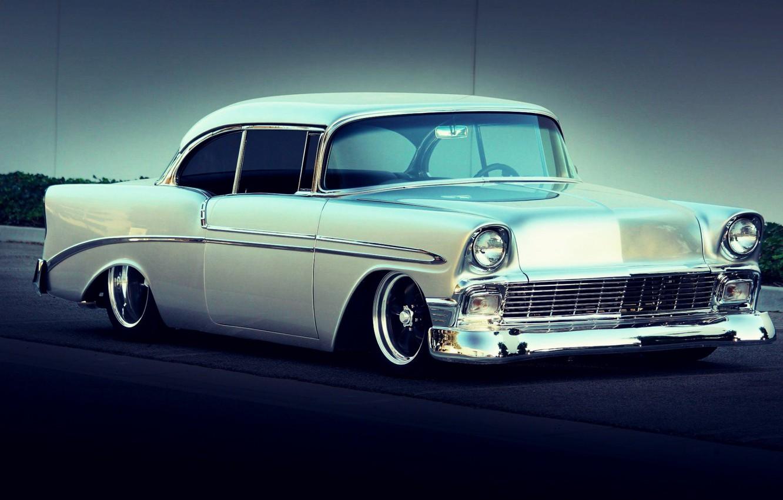 Photo wallpaper Chevrolet, Bel Air, Tuning, Silver