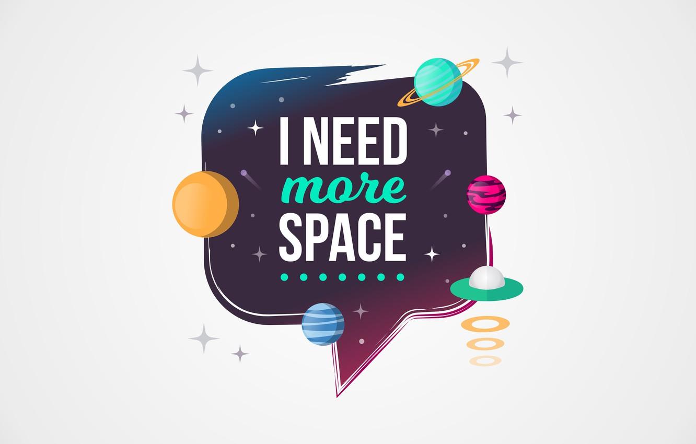 Photo wallpaper space, the inscription, figure, graphics, planet, space