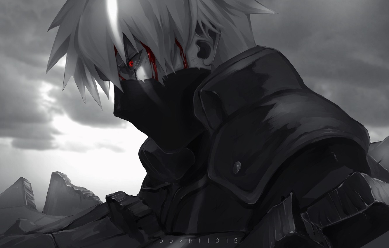 Wallpaper Black And White Kakashi Hatake Kakashi Hatake Naruto