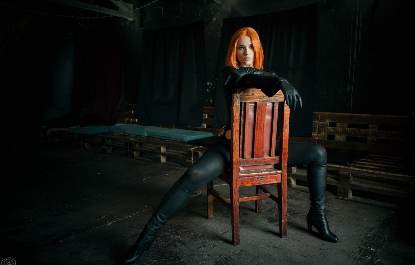 Photo wallpaper cosplay, Black widow, based on the movie