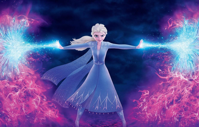 Photo wallpaper cartoon, cartoon, Frozen, Elsa, Elsa, Cold Heart, Cold heart 2