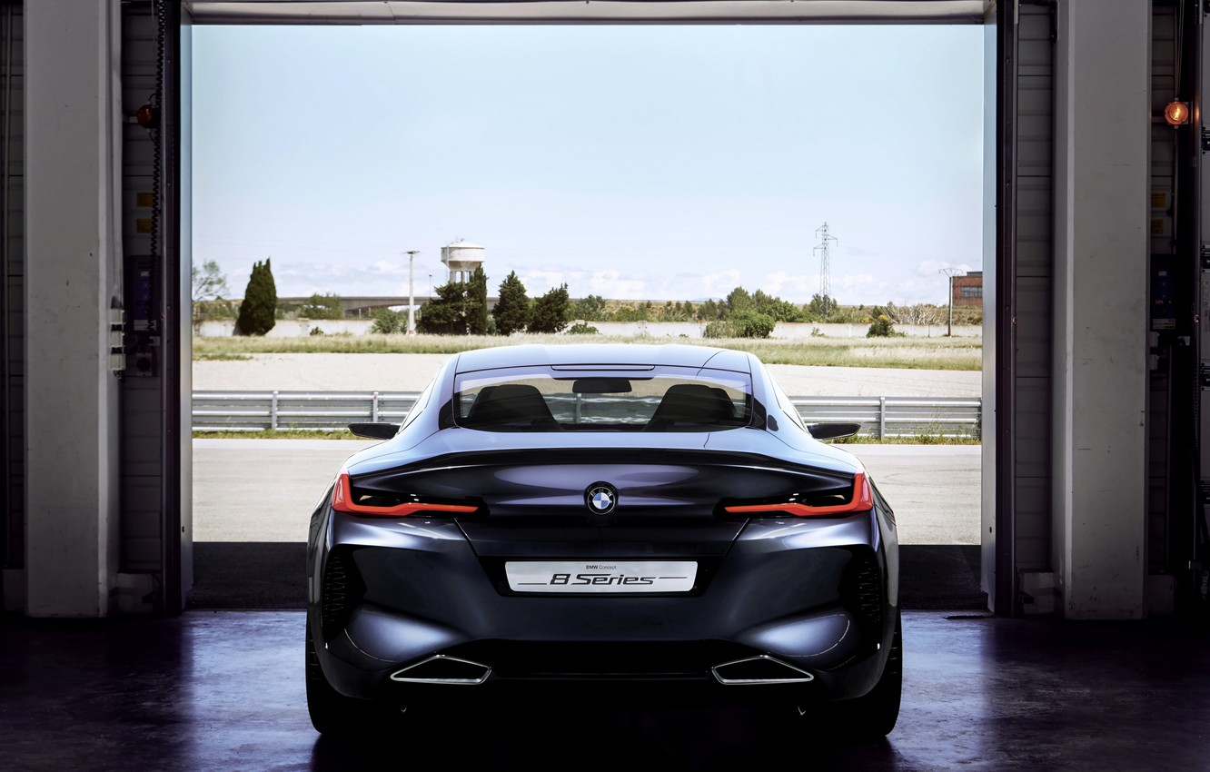 Photo wallpaper coupe, BMW, rear view, 2017, 8-Series Concept
