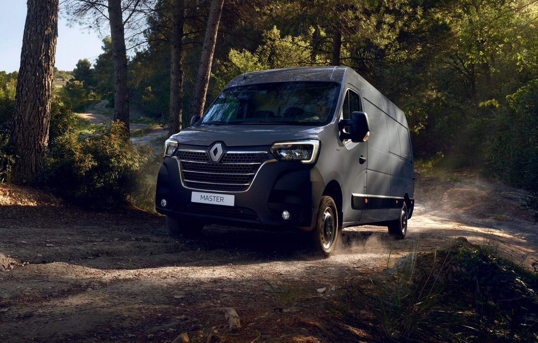 Photo wallpaper forest, Renault, van, Master, 2019, the coroner van