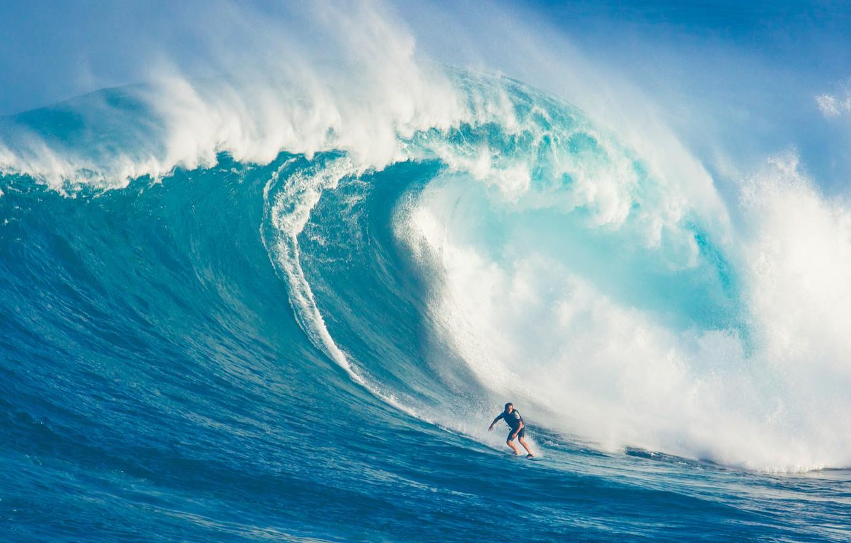 Photo wallpaper man, surf, wave