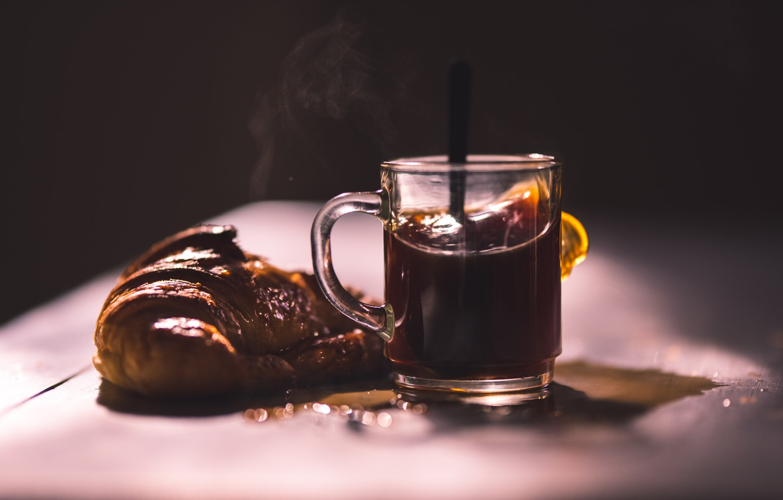 Photo wallpaper tea, food, roll