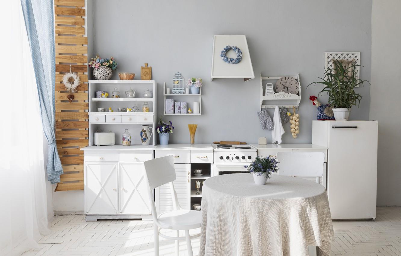 Wallpaper Flowers Retro Table Watch Refrigerator Chair