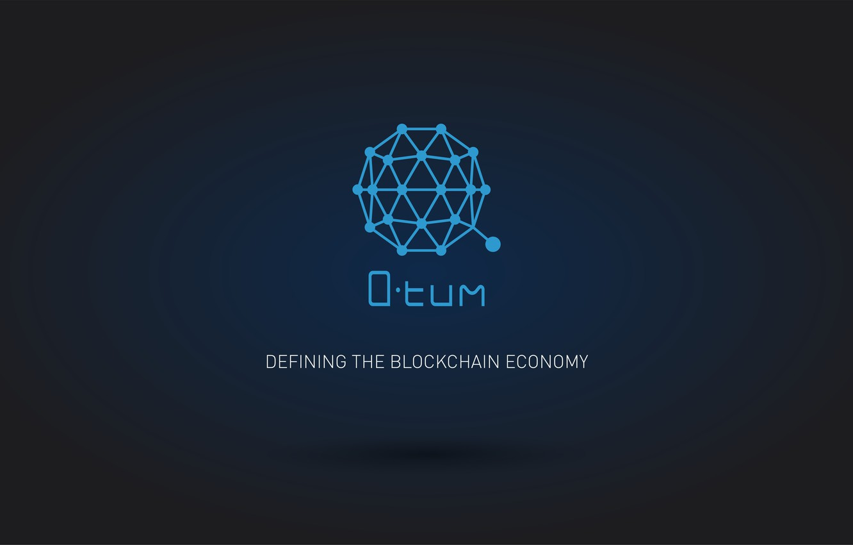 Photo wallpaper blue, logo, currency, fon, cryptocurrency, qtum, Qtum