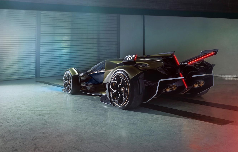 Photo wallpaper Lamborghini, Wheel, The concept car, Lambo, Drives, V12, Wing, Vision Gran Turismo, 2019, Lambo V12 …
