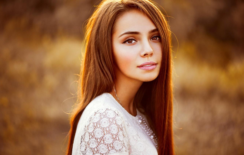 Photo wallpaper look, girl, hair, portrait, beautiful, Ann Nevreva