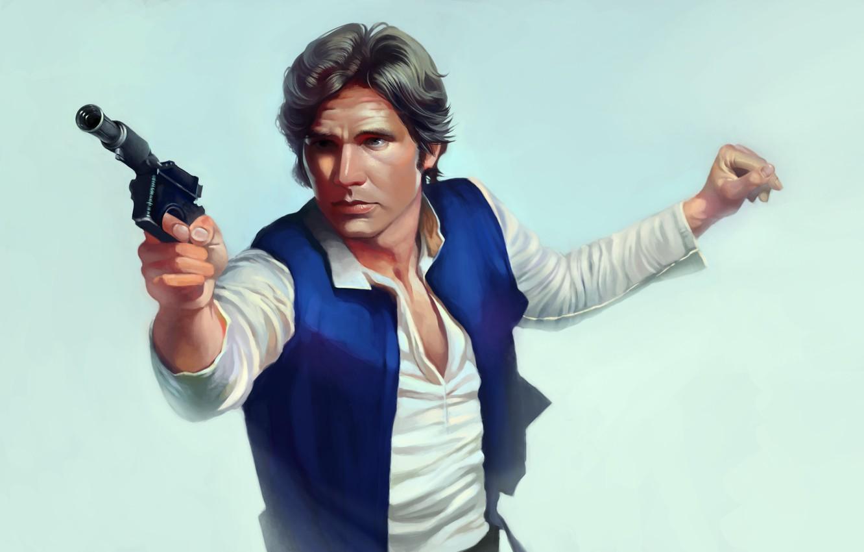 Photo wallpaper gun, Star Wars, guy, Han Solo