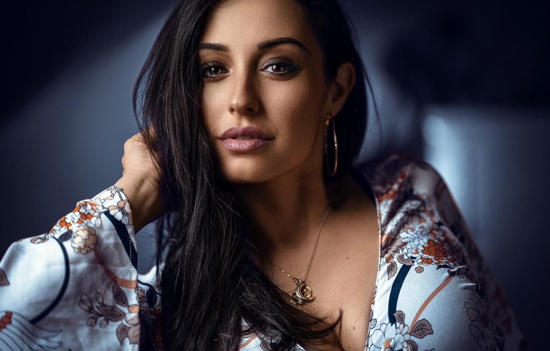 Photo wallpaper look, model, portrait, Anatoly Oskin, Alicia Salas Lopez