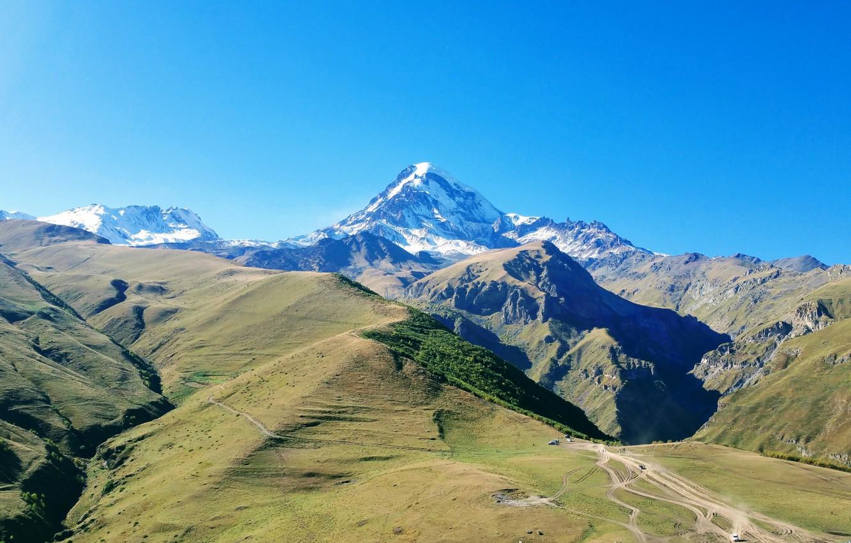 Photo wallpaper mountain, Georgia, The Caucasus, Kazbek