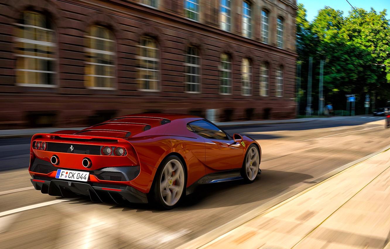 Photo wallpaper Machine, Ferrari, Red, Car, Render, Supercar, Rendering, Supercar, Sports car, Sportcar, Nancorocks, Transport & Vehicles, …