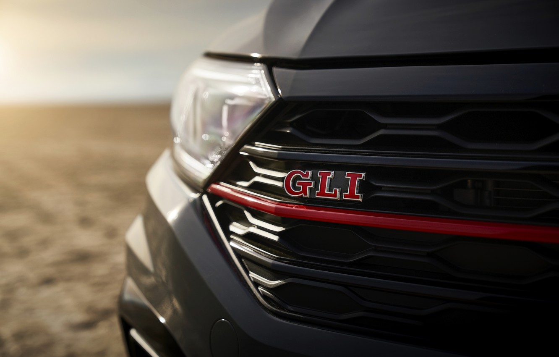 Photo wallpaper Volkswagen, Jetta, grille, sedan, GLI, 2019