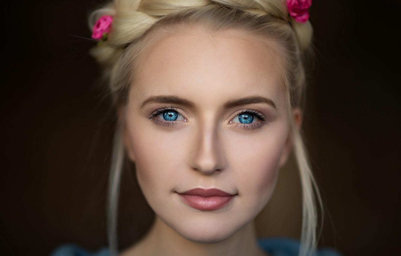 Photo wallpaper eyes, look, Girl, hairstyle, Angel, Mark Prinz