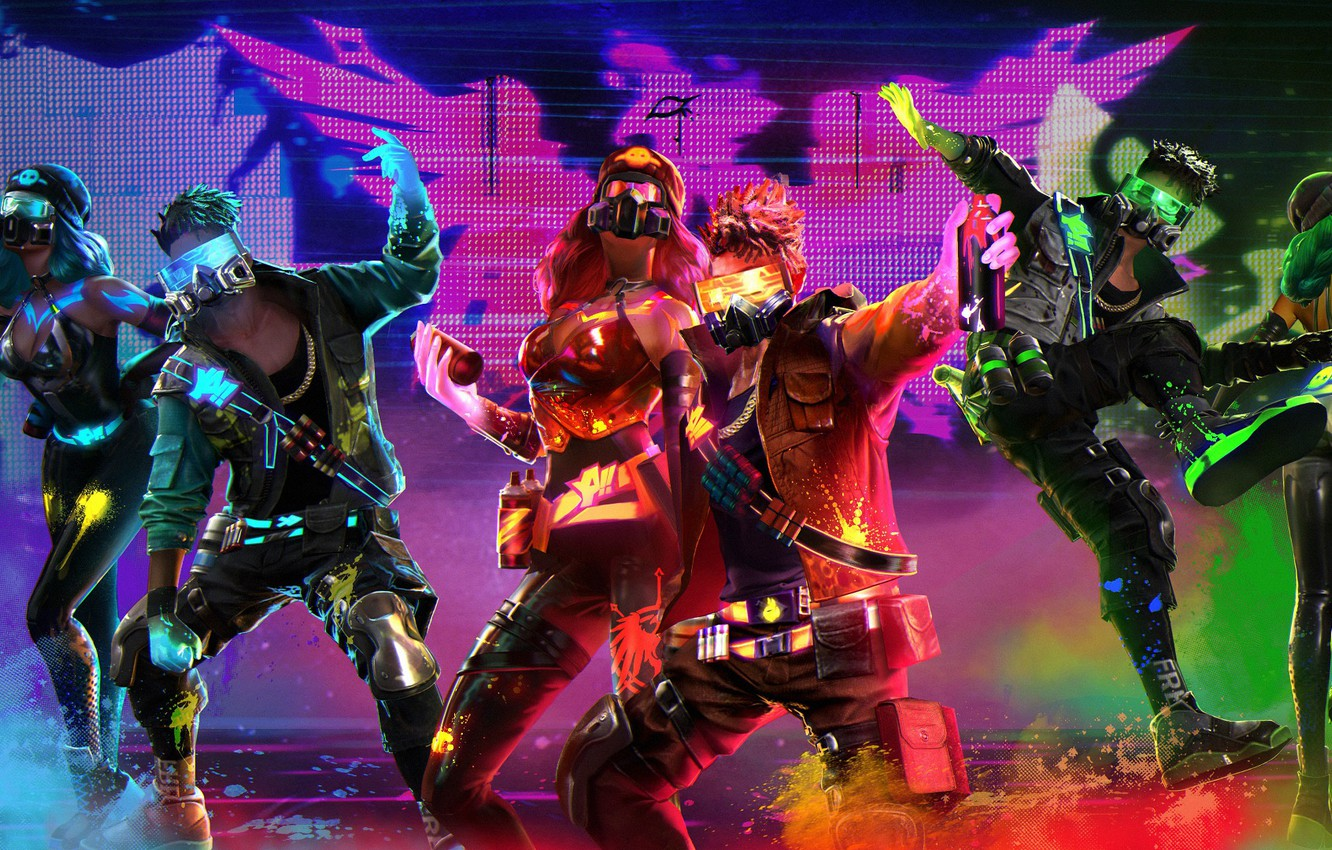 Wallpaper People Neon Garena Free Fire Images For Desktop Section Igry Download