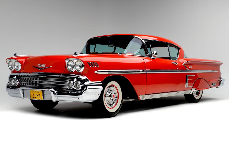 Photo wallpaper Chevrolet, The hood, Lights, Classic, Bel Air, Impala, Classic car, 1958, Grille, Chevrolet Bel Air …