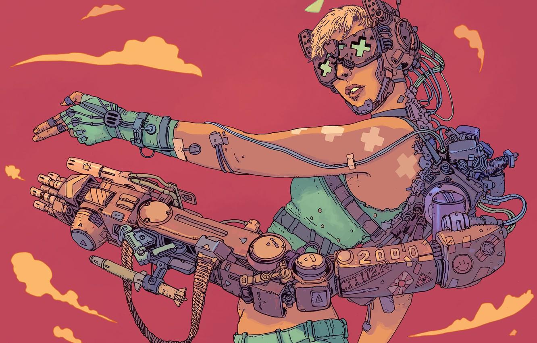 Photo wallpaper Girl, Figure, Robot, Mechanics, Fantasy, Art, Art, Robot, Robots, Mechanisms, Fiction, Cyborg, Cyberpunk, Cyberpunk, by ...