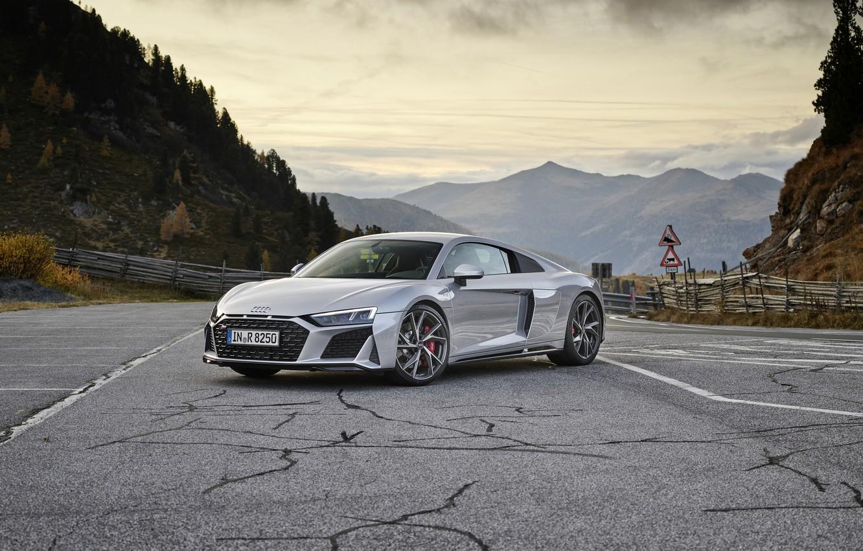 Photo wallpaper Audi, supercar, Audi R8, Coupe, V10, 2020, RWD
