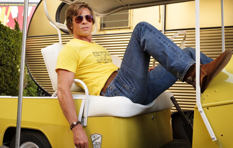 Wallpaper Jeans Glasses Brad Pitt Brad Pitt Once Upon A Time