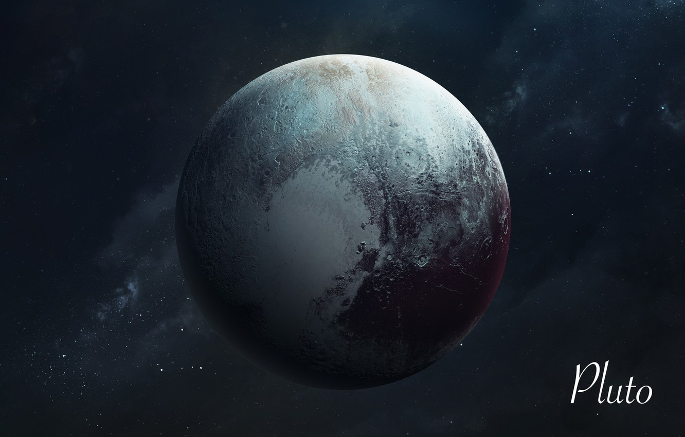 Photo wallpaper Stars, Planet, Space, Pluto, Art, Stars, Space, Art, Planet, Universe, Galaxy, System, Pluto, Science Fiction, ...