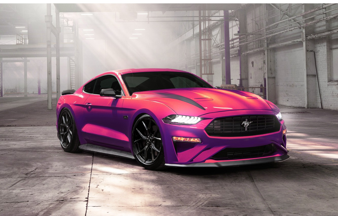 Photo wallpaper Mustang, Ford, Auto, Machine, Purple, Ford Mustang, Transport & Vehicles, 2020 Ford Mustang Ecoboost, Ayhan …