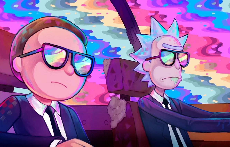 Photo wallpaper Glasses, Costumes, Smith, Cartoon, Sanchez, Rick, Rick and Morty, Rick and Morty, Morty, Rick Sanchez, …