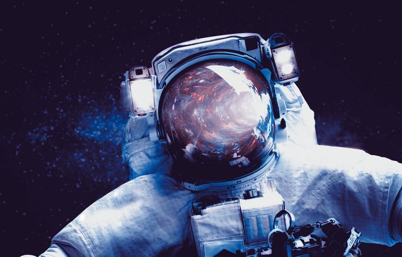 Photo wallpaper space, astronaut, the suit