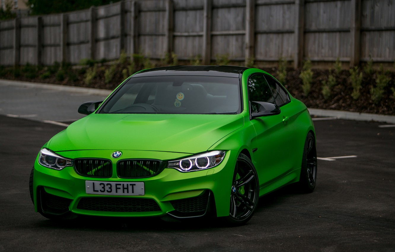 Photo wallpaper BMW, Green, matte, wrap