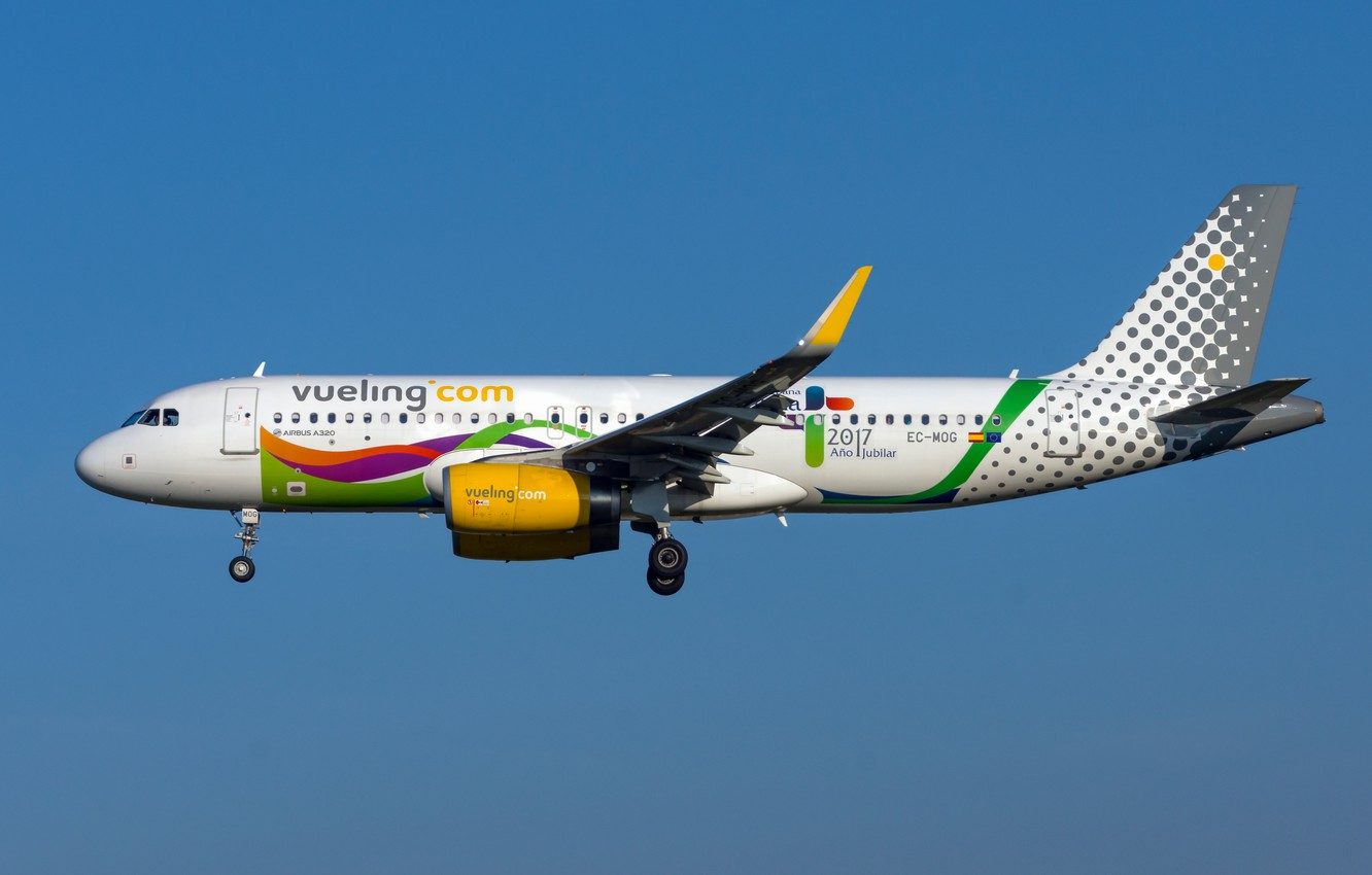 Photo wallpaper Airbus, Vueling Airlines, A320-200S