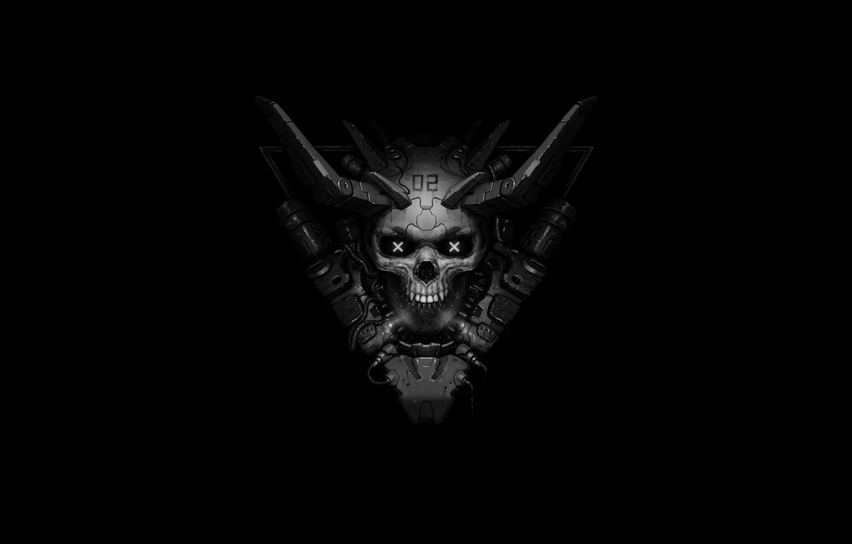 Wallpaper Minimalism Skull Dark Background Mad Sake