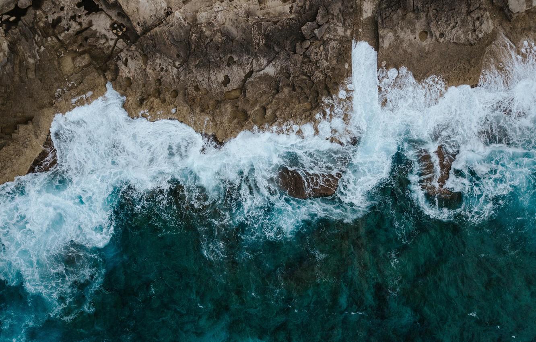 Photo wallpaper sea, wave, landscape, nature, shore
