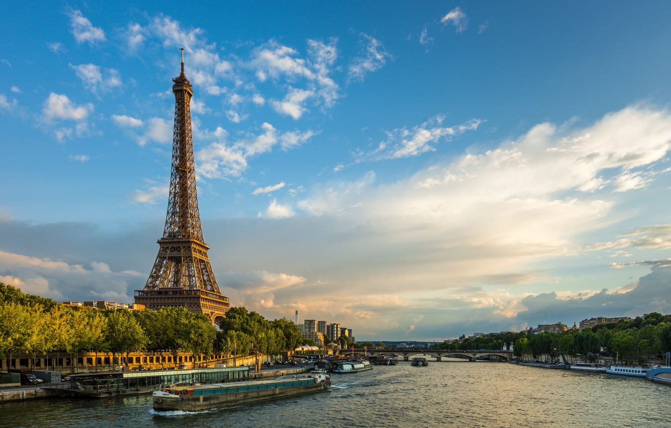 Photo wallpaper France, Paris, Eiffel tower
