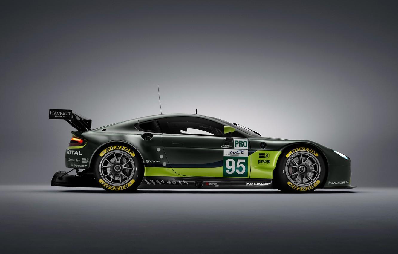 Photo wallpaper Aston Martin, Vantage, Wheel, Machine, Drives, Sport, GTE, Spoiler, V8